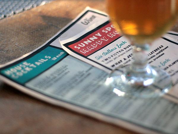 Sunny Spot, Venice, beer + menu