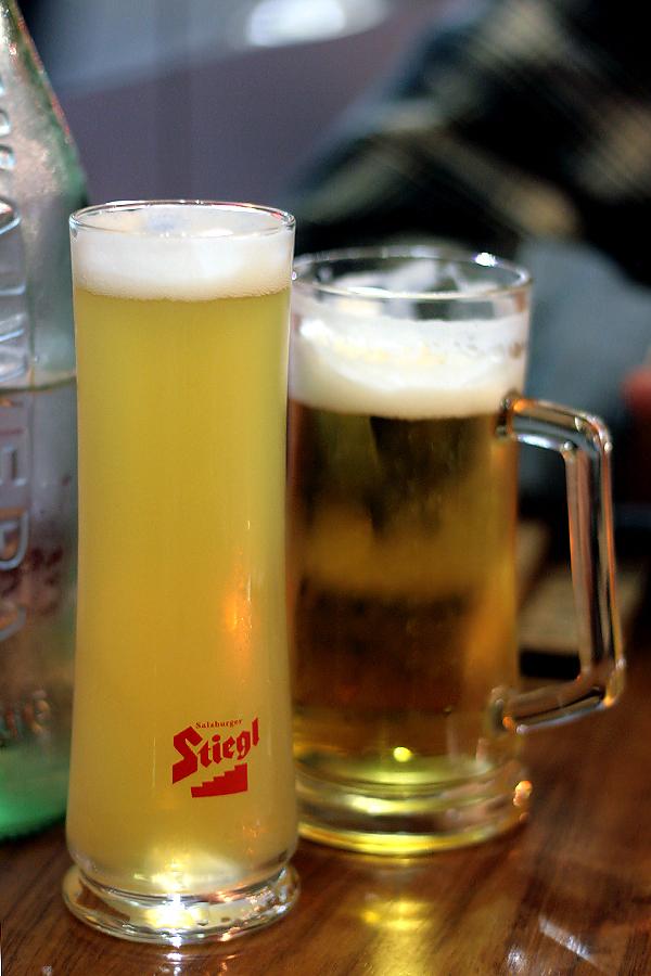 BierBeisl - radler + grapefruit juice, steigl beer