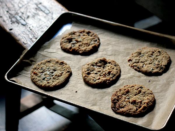 chocolate chip cookies baking sheet