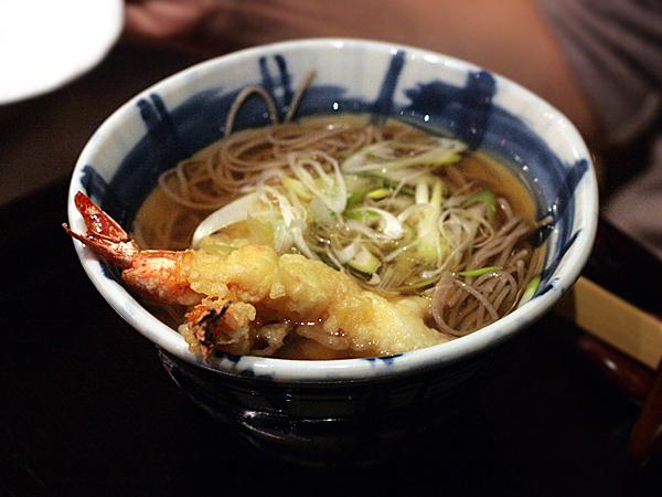 soba sojibo - ebi shrimp tempura soba