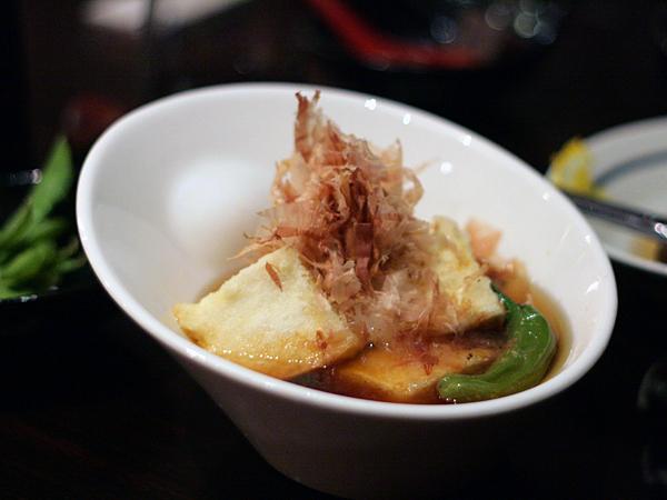 soba sojibo, agedashi tofu
