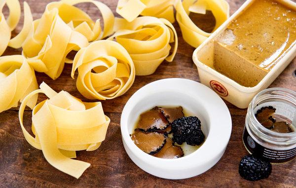 foie gras black truffle pasta, new york times