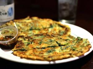 OB Bear, koreatown restaurant - leek pancake