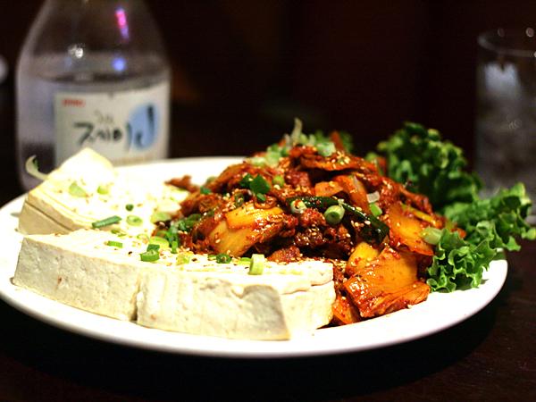 OB Bear, kimchi tofu