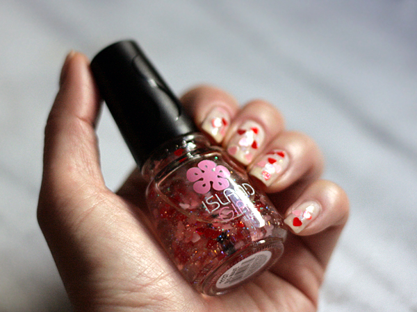 pink red heart island girl nail polish — The Delicious Life