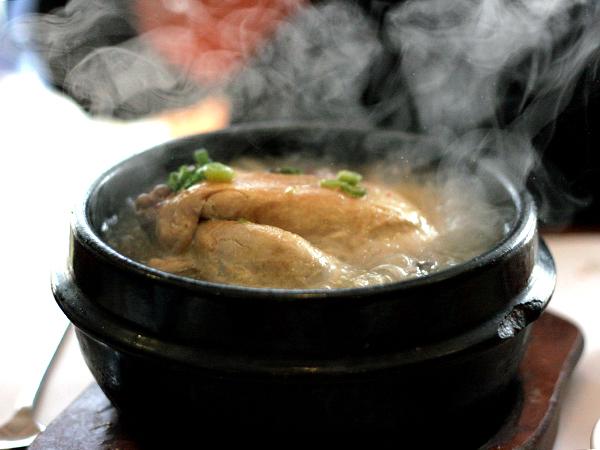 sam gye tang, at Seong Buk Dong restaruant, koreatown