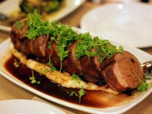 spacca restaurant - duck porchetta