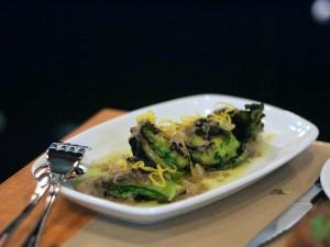 spacca restaurant - romanesco broccoli cauliflower with lemon bagna cauda