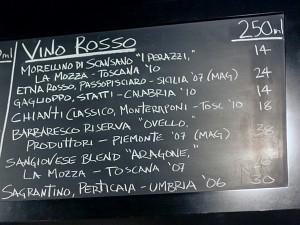spacca restaurant - wine list, red