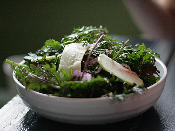 Goldie's, LA - kale salad