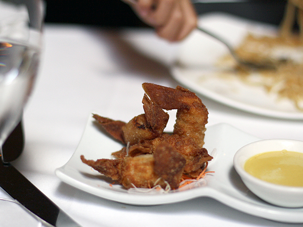 Crustacean restaurant, crab wontons