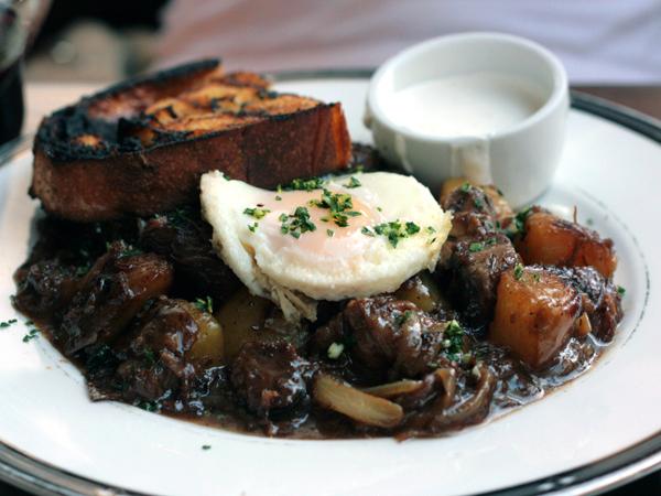 tasting kitchen - short rib hash with egg