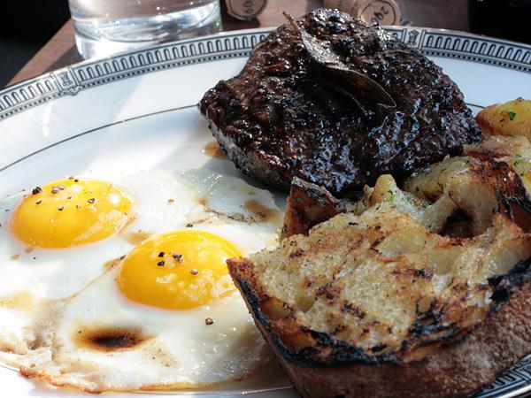tasting ktichen - steak and eggs