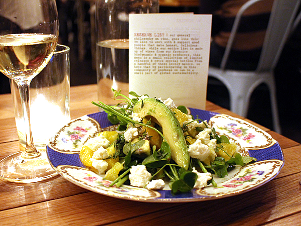 Barnyard restaurant, Venice CA - avocado salad