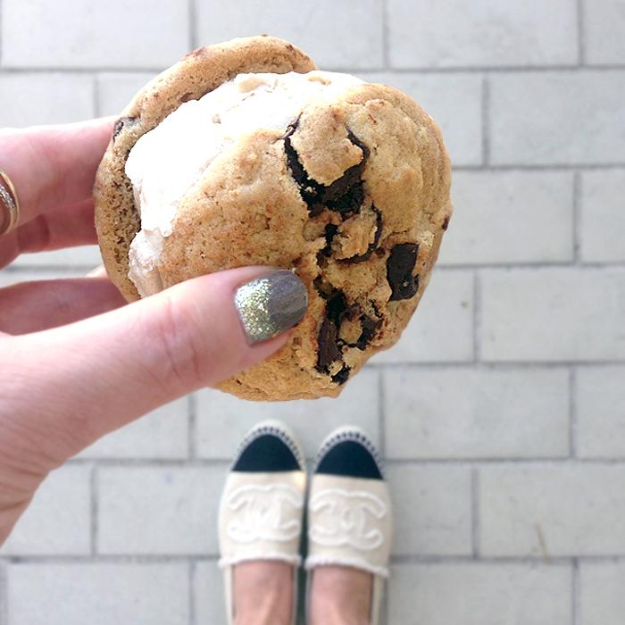 chocolatechipcookieicecreamsandwich-thedelicious
