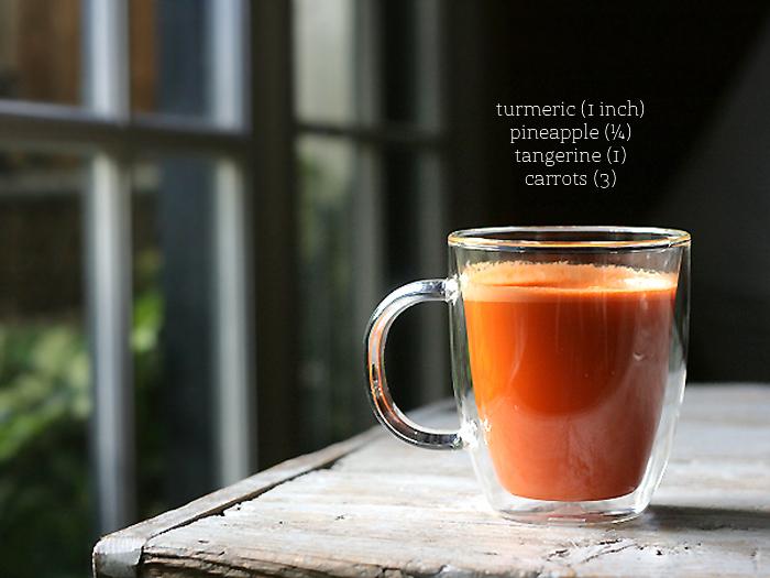 carrot tangerine turmeric anti-inflammatory juice