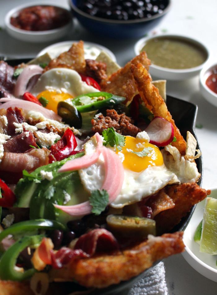 breakfast nachos with hash browns chips