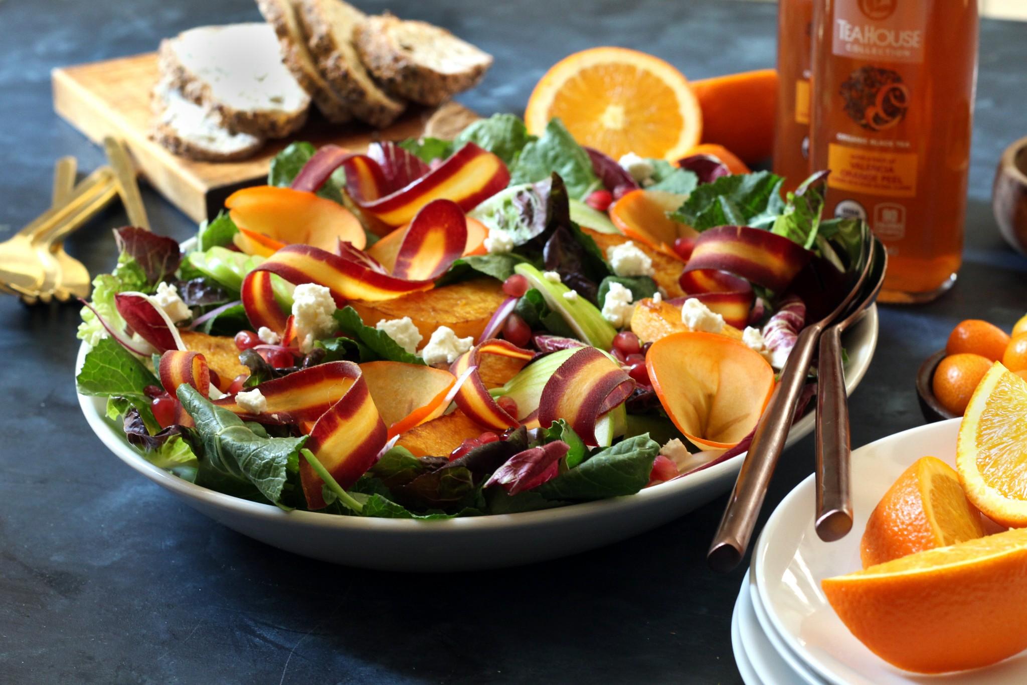 fall farmers market salad Maple Citrus Vinaigrette