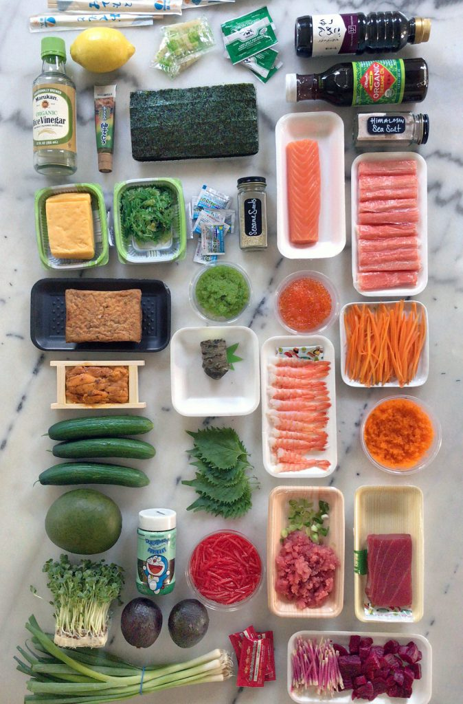 sushi hand roll ingredients
