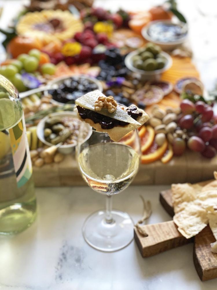 Pinot Noir Prune Jam and Cheese on Cracker
