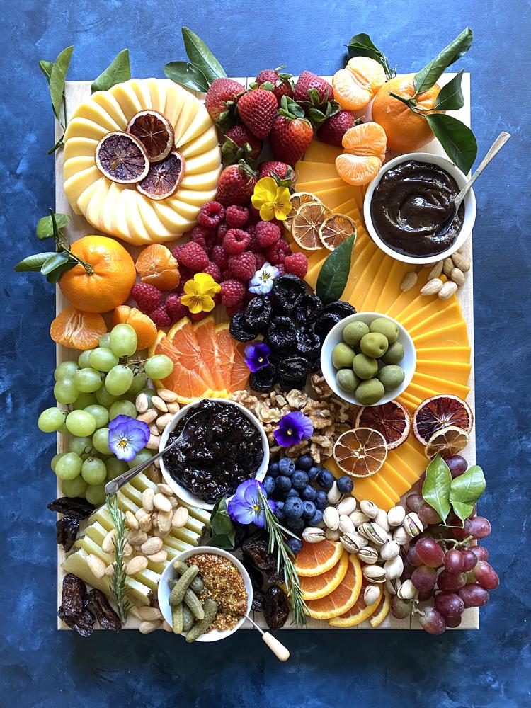 Pinot Noir Prune Jam on Cheese Board