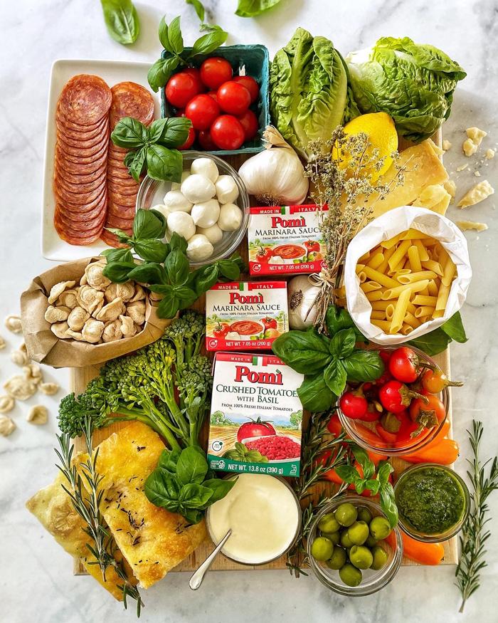 Italian Date Night In Antipasto Snack Board Ingredients
